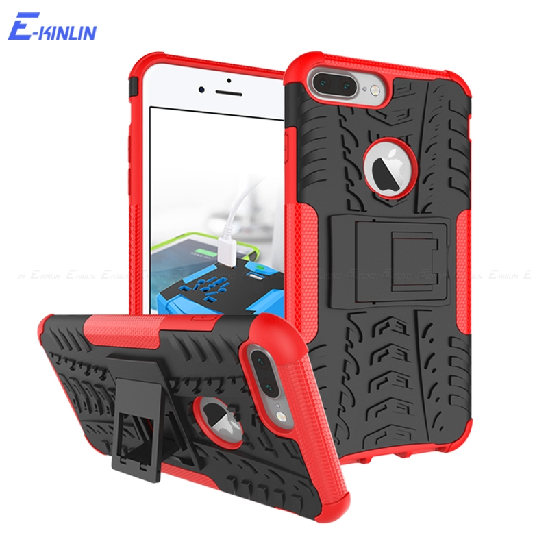 Hard PC Soft Silicone TPU Shockproof Hybrid Case For iPhone 8 7 6 6S Plus 10 Ten X Tough Heavy Duty Armor Back Cover