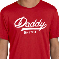 EnjoytheSpirit DADDY Since ANY YEAR Mens T Shirt Fathers Day Papa Gift Husband Tshirt New Dad
