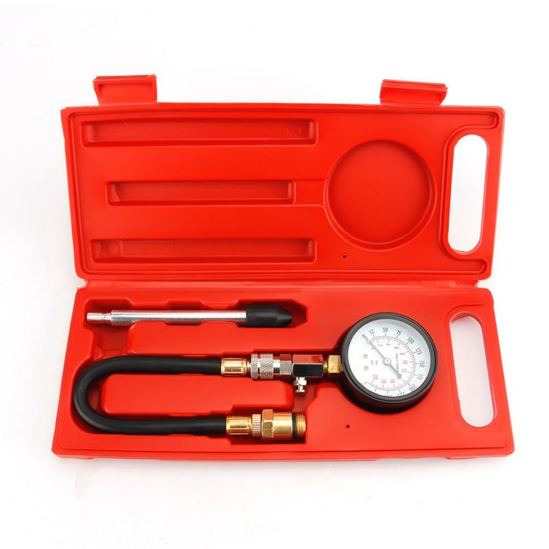 Automotive Motorcycles Petrol Engine Compression Pressure Gauge Tester