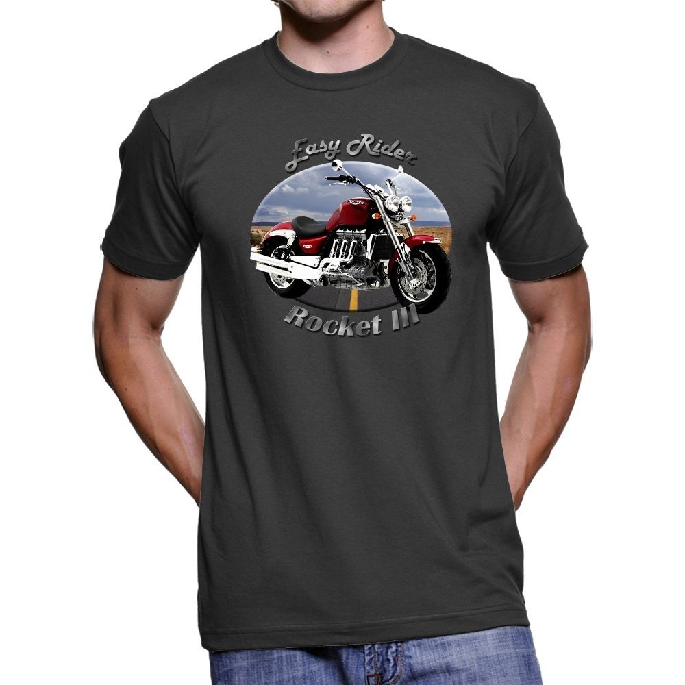 2018 Fashion Hot sale British Motorcycles Rocket III Easy Rider Men T-Shirt Tee shirt