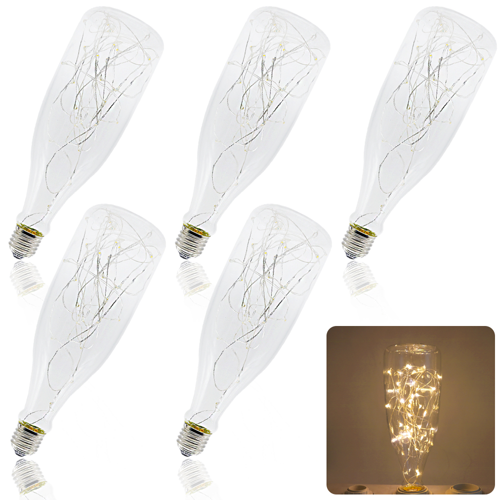 5Pcs Drift bottle led lamp lampada Lighting rgb Light Bulbs e27 twinkle bulb fairy light night bulb decor bulb warm white