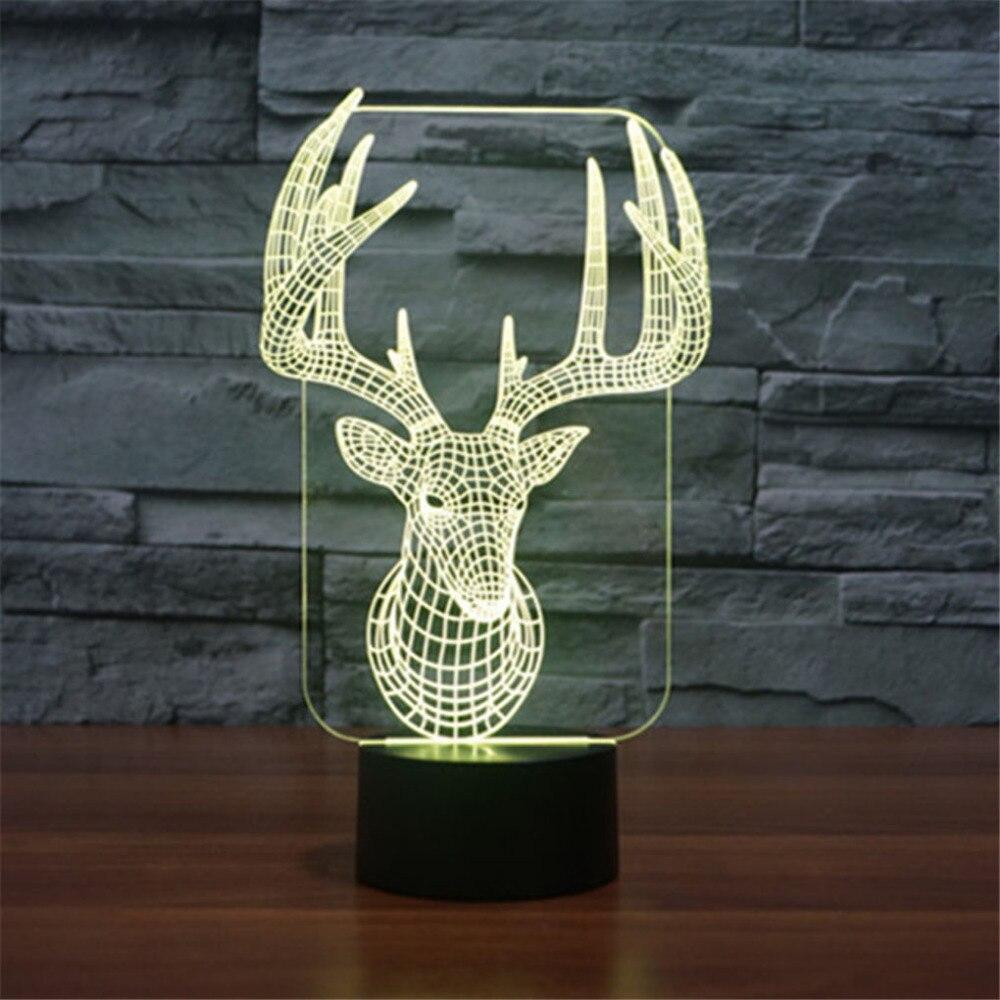AUCD  Acrylic 3D Illusion LED Gradient Night Light Children Cute USB - Night Lights - Photo 2