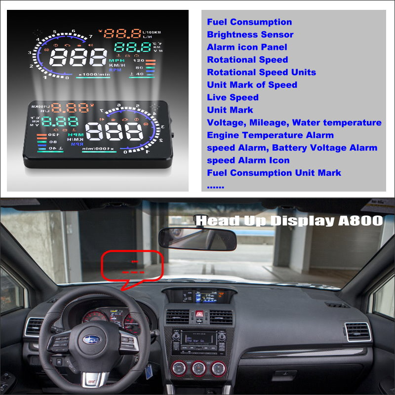 For Subaru WRX STi 2015 2016 - Safety driving car HUD head up display screen projector projection to windshield title=
