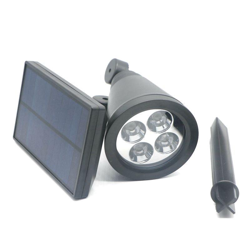 Solar Lamps Power 4 LED Lights Waterproof Outdoor Garden Spot