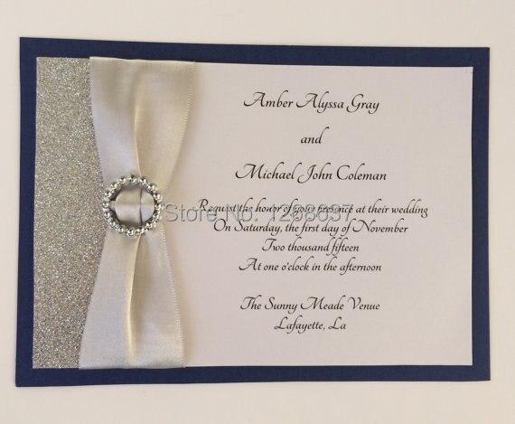 Buy Wedding Invitations: Aliexpress.com : Buy CA0717 Customizable Silver Glitter