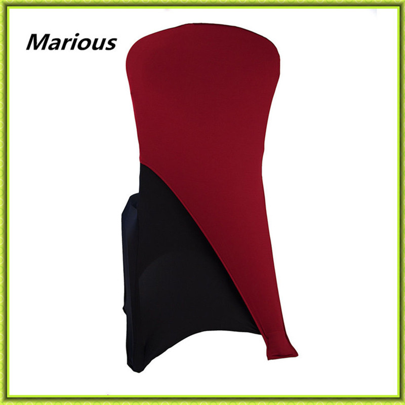100pcs burgundy spandex chair hood /lycra chair sash for wedding decoration