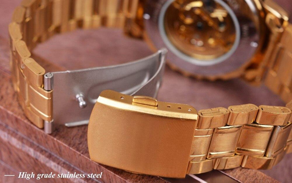 Winner New Number Sport Design Bezel Golden Watch Mens Watches Top Brand Luxury Montre Homme Clock Men Automatic Skeleton Watch 7