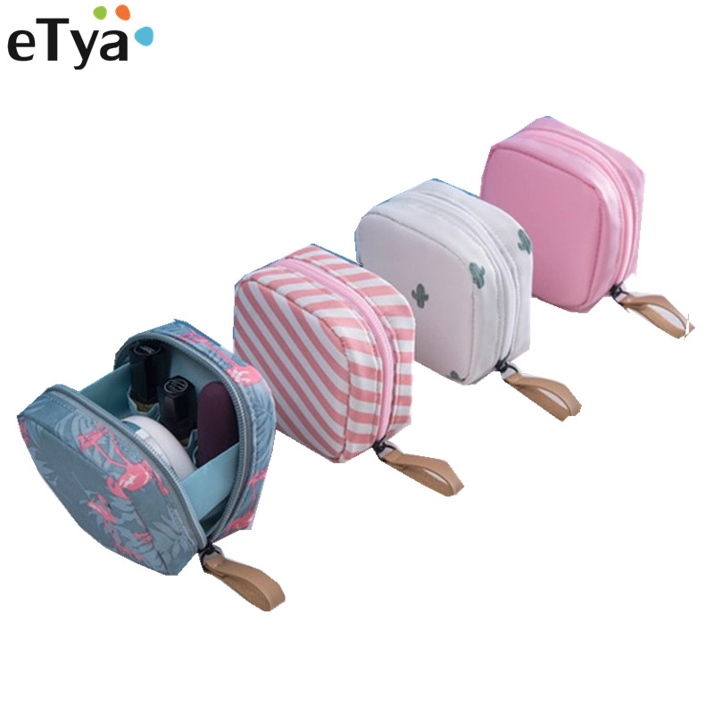 ETya New Women Mini Large Lipstick Cosmetic Bag Travel Neceser Sanitary Toiletry Napkins Beauty Makeup Bag Pouch Organizer Pouch