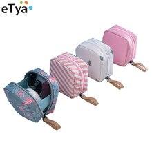 eTya New Women Mini Large Lipstick Cosmetic Bag Travel Neceser Sanitary Toiletry Napkins Beauty Makeup Pouch Organizer