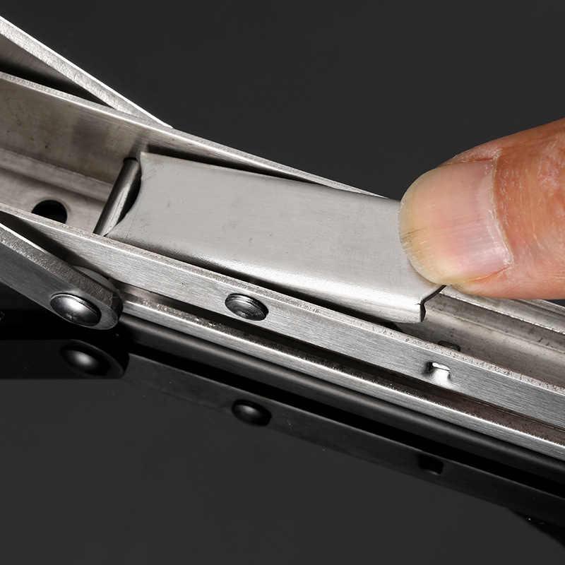 2 قطعة الفولاذ المقاوم للصدأ حامل قابل للطي شاشة بكتيفة للطاولات الرف مقاعد البدلاء 200 كجم تحميل الثقيلة PAK55