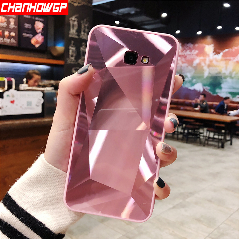 3D Mirror Diamond Glitter Case For Samsung Galaxy A5 A6 A7 A8 A9 J4 J6 J8 2018 J3 J5 J7 2017 2016 S7 edge S8 S9 S10 Plus S10E