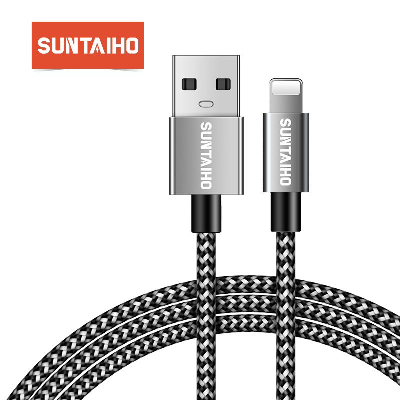 Suntaiho Usb-Cable Charger Nylon 8-Plus For iPhone XS MAX Data-Charging-Cable 6s XR