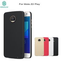 For Moto Z2 Play Case Nillkin Frosted PC Hard Plastic Back Cover Gift Screen Protector For