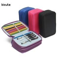 72 Holes 4 Layer Portable Oxford School Pencil Case Colored Pencils Pen Pouch Brush Holder Pockets