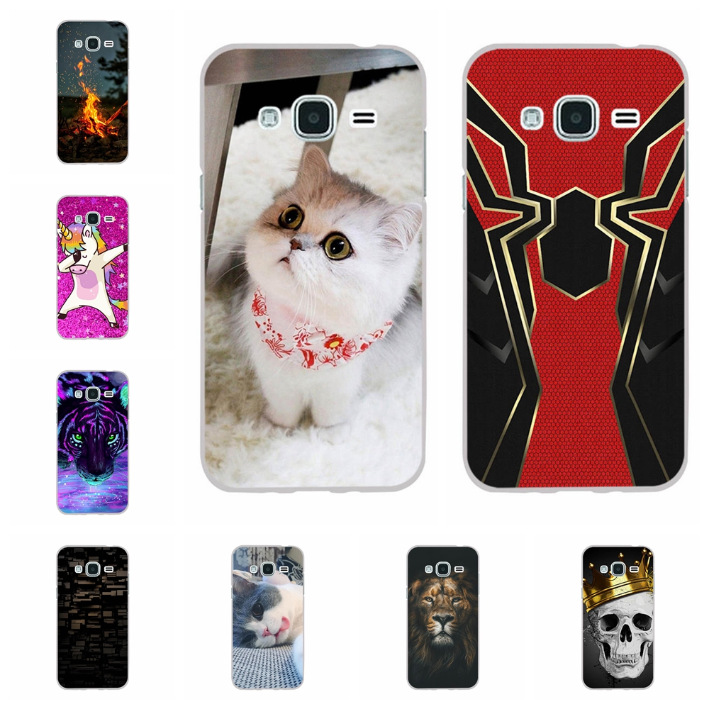 For Samsung Galaxy J3 2016 Case TPU J320 J320F Cover House Pattern Pro Bumper