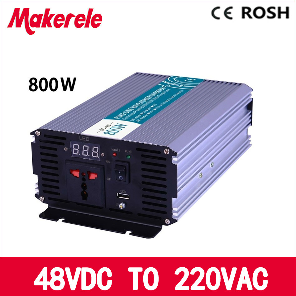 MKP800-482 800w off grid power inverter 48v dc 220v ac Pure Sine Wave inverter voltage converter,solar inverter LED Display 6es5 482 8ma13