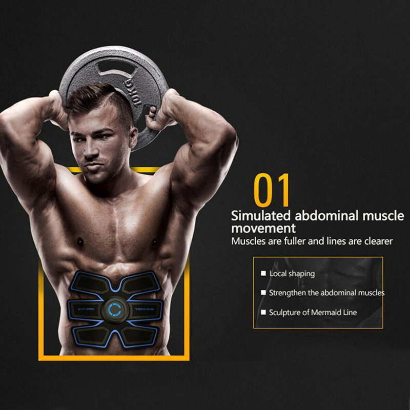 1PCS Smart Abdominal Muscles Intensive Training Sticker Household  Training Fitness Gear Muscle Abdominal Exerciser Fitness Tool