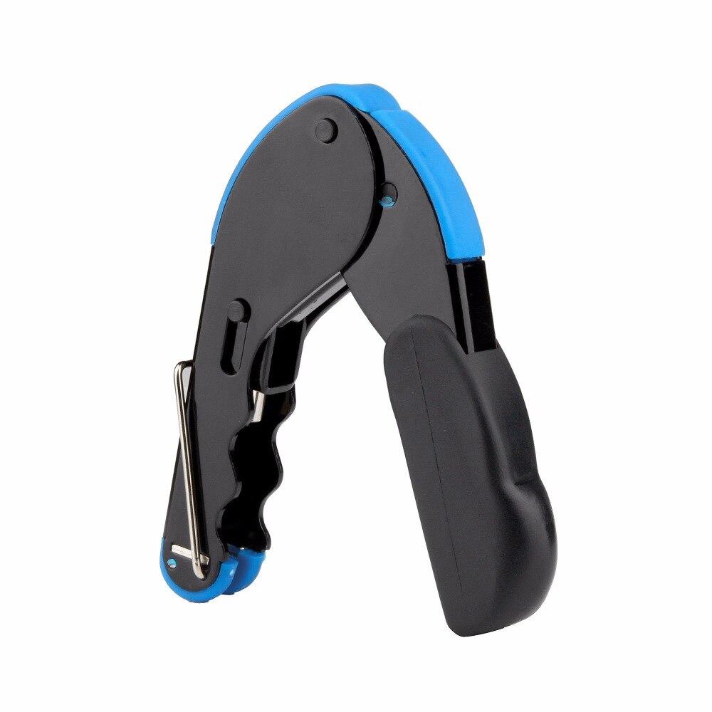 1pc Compression Crimping Tool F RG6 RG58 RG59 Connector Coax Coaxial Crimper Black