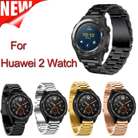 2017 New Product Stainless Steel Smart Watchband For Huawei2 Metal Classic Buckle Watch Strap For Huawei