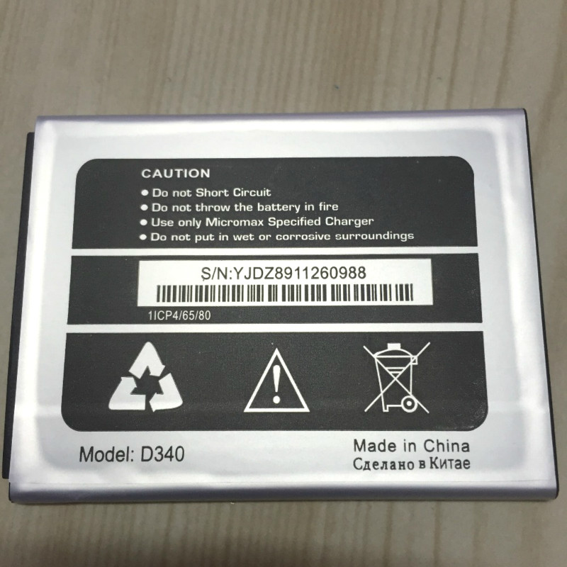 2500mAh  Battery For Micromax D340 Bolt Batteries + track code title=