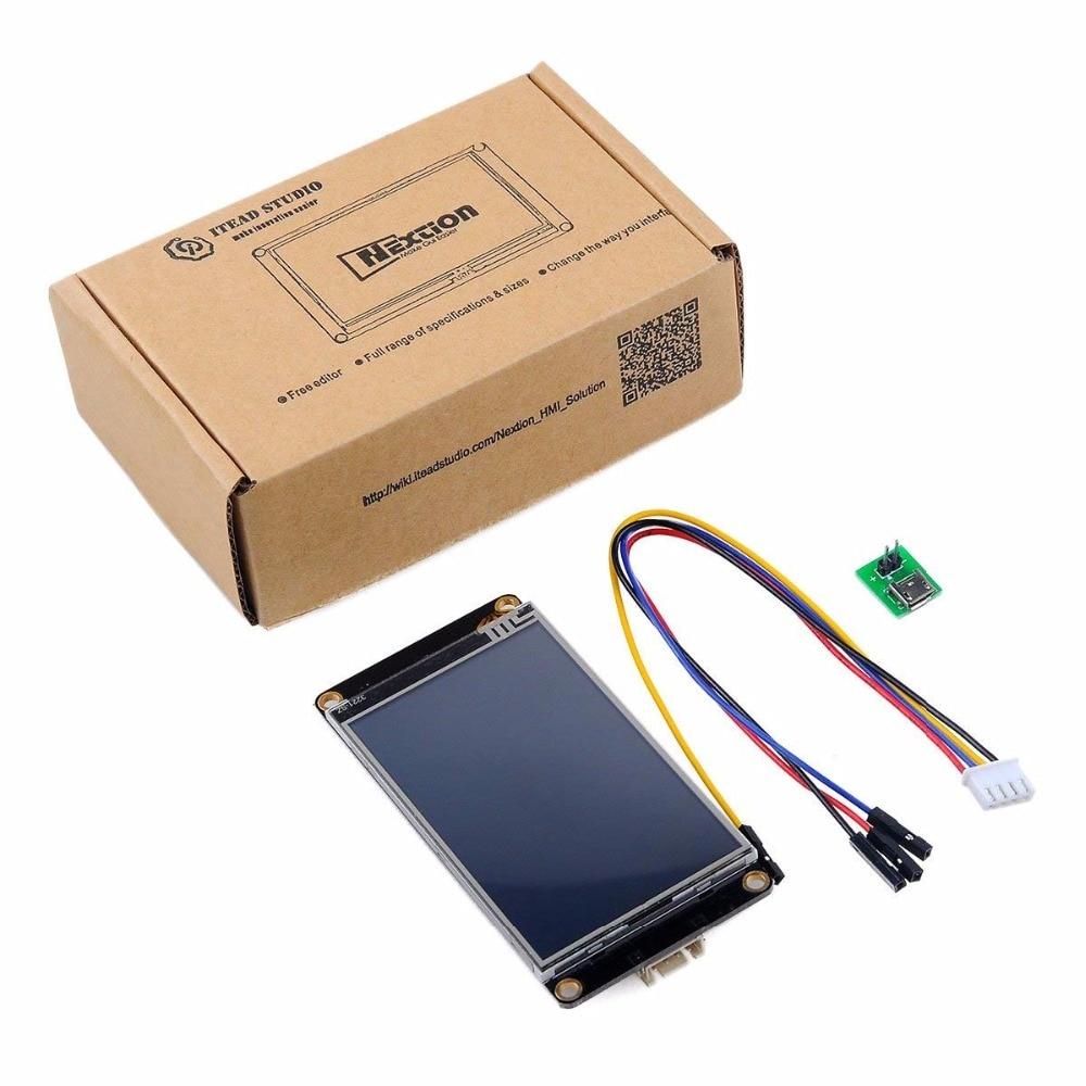 "Nextion Display Enhanced 7.0"" 5.0"" 4.3"" 3.5"" 3.2"" 2.8"" 2.4"" Touch Display Screen HMI Smart LCD Module /CP2102 Serial Module"