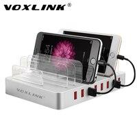 VOXLINK White 8 Ports Desktop USB Multi Charging Station Dock With Stand For Mobile Phone Tablet