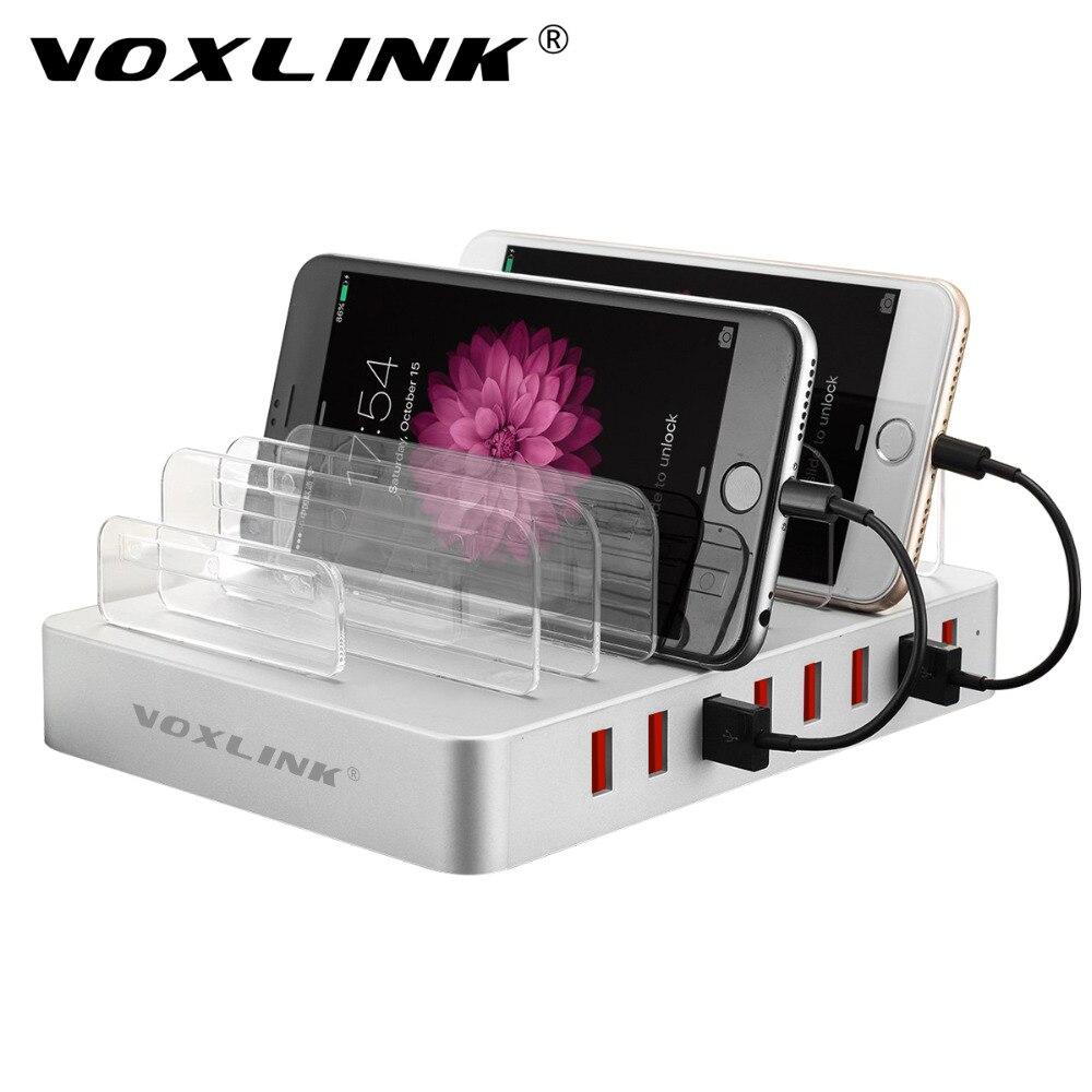 Voxlink universal multi-Port USB estación de carga muelle 96 W 8 Puerto multi carga USB para iPhone, IPad, Samsung Galaxy, Tablets