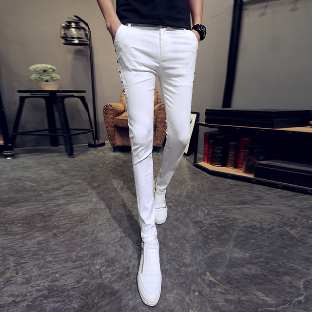 Brand New Men Summer Pants Fashion 2020 All Match Skinny Pants Men Streetwear Casual Trousers Men Hot Sale 4