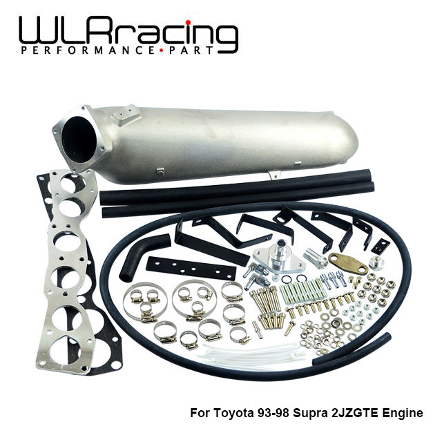 WLR RACING   CAST ALUMINIUM INTAKE MANIFOLD for 93 98 Supra 2JZGTE FOR Toyota 2JZ Intake Manifold high quality New Brand-in Air Intakes from Automobiles & Motorcycles    1