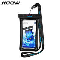 Mpow Universal IPX8 Waterproof Case Bag Phone Pouch 6 Inch Phone Bag Case For Iphone Xs X 7Plus 6S Samsung Galaxy S9 Phone Case
