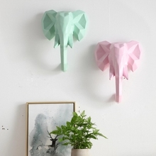 Colorful ins wind creative animal rhinoceros elephant living room wall hanging Nordic decoration