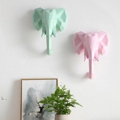 Красочные ins ветер творческие животные носороги слон гостиная комнатная настенная скандинавские украшения стен