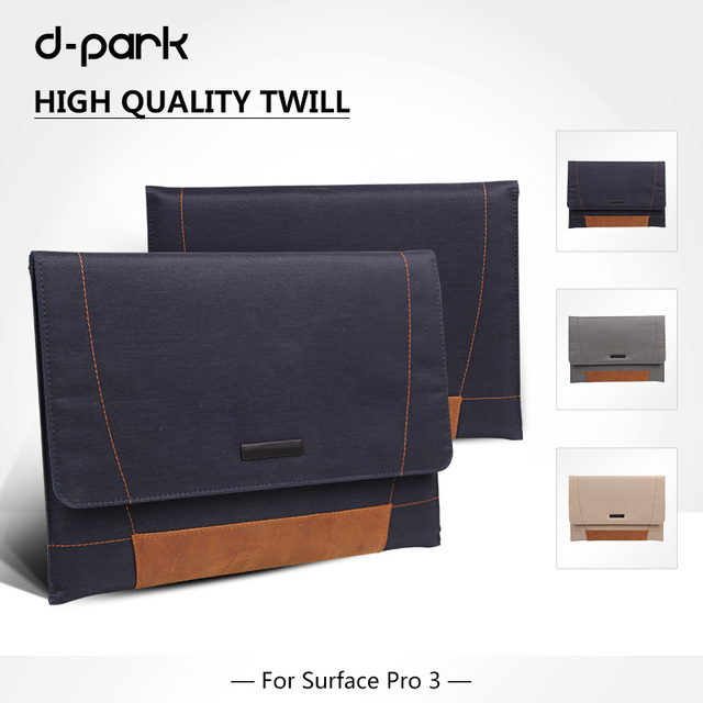"""D-park Microsoft Surface pro 4/3 laptop bag / case, bag for notebook 12"""" inch, sleeve for surface pro 4/3 12"""" inch"""