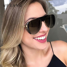 WFEANG 2019 Round Sunglasses Women Fashion Glasses Brand Designer Retro Frame Vintage High Quality UV400