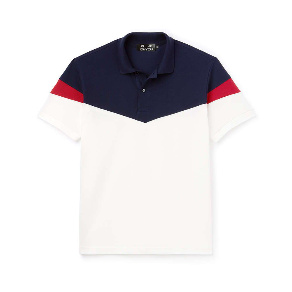 Men's Classic Fit Colorblock Cotton   Polo   Shirt Short Sleeves Tops Mens turndown collar Business & Casual   Polo   Brand Clothing