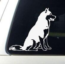 car styling dog Husky Vinyl Decal Funny Car Sticker Window Decoration Accessories Motorcycle sticker 14x8 5cm marca peru symbol originality vinyl decal car sticker car styling accessories s8 0828