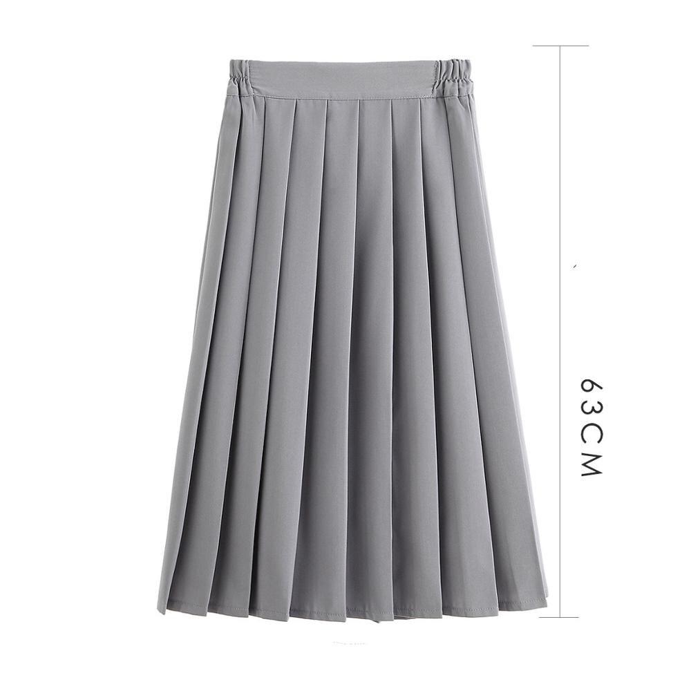 Women JK High School Uniforms Skirt Students Girls Harajuku Japanese Preppy Style Plus Size Pleated High Waist A-line Skirt 5XL