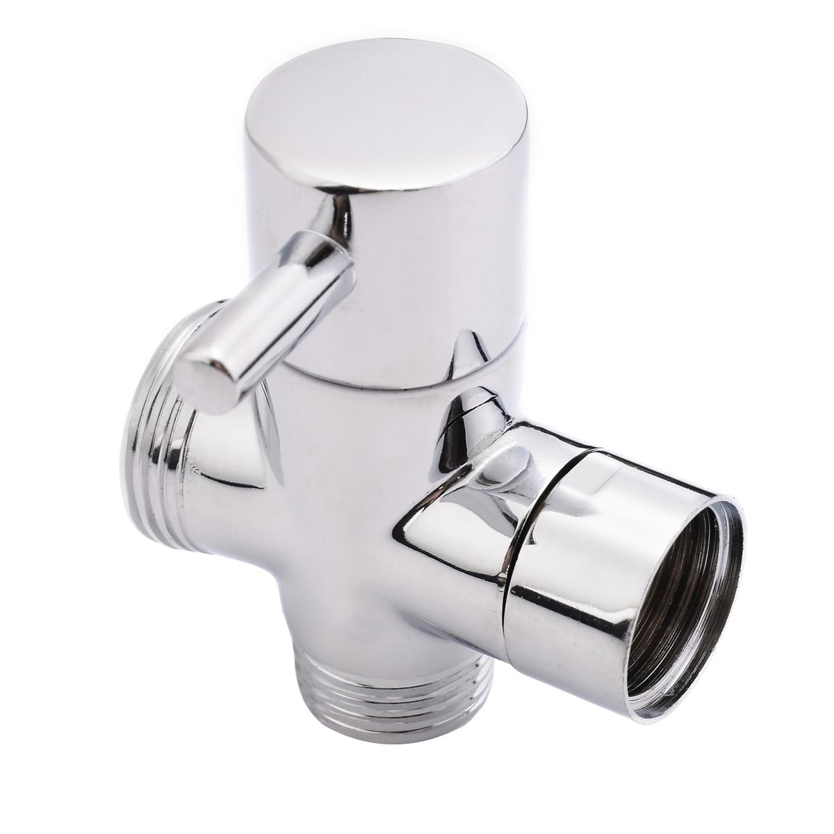 Brass 3-Ways Shower Head T-adapter Diverter Valve Toilet Sprayer Faucet Bathroom Accessory Part tulex black stop valve faucet angle valve brass diverter toilet valve shower head connector solid brass