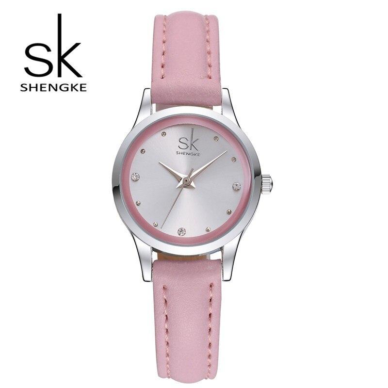 SK new design fashion woman watch elegant diamond quartz watch ultra thin belt waterproof sports watch