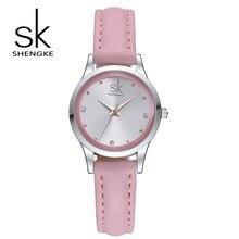 SK nouveau design de mode femme montre élégant diamant quartz montre ultra-mince ceinture imperméable à l'eau montre de sport Montreux Femme 2017