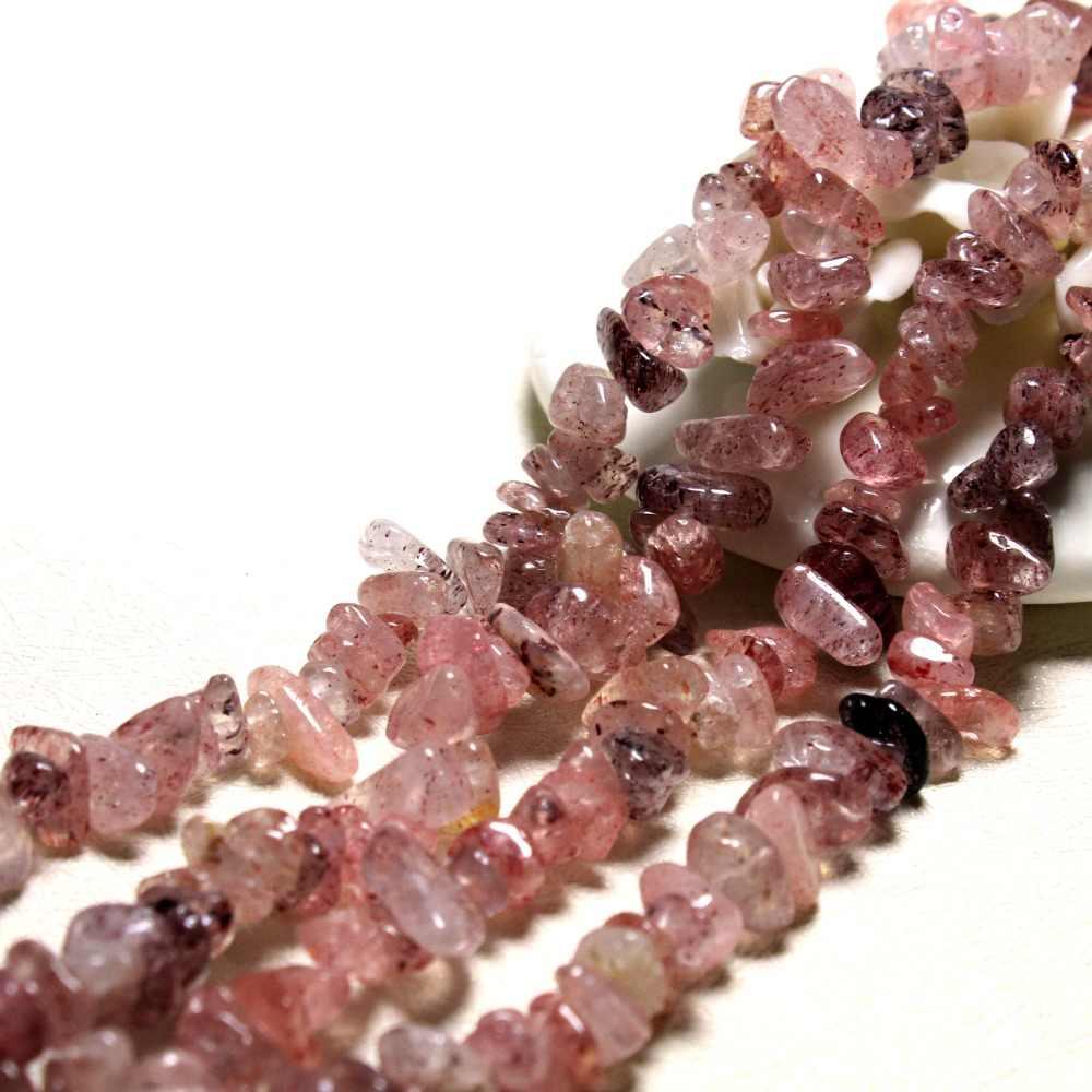 Bán buôn Sỏi Shape 5-8 mét Dâu Tự Nhiên Quartz Stone Beads Cho Trang Sức Làm DIY Vòng Tay Vòng Cổ Strand 34 ''