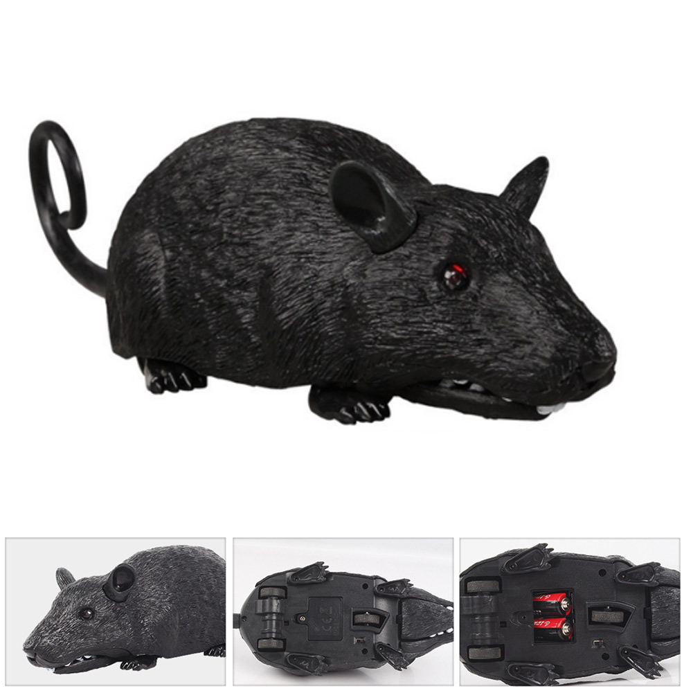 Fake Mouse Remote Control Realistic RC Prank Joke Scary Trick Model Toys M09