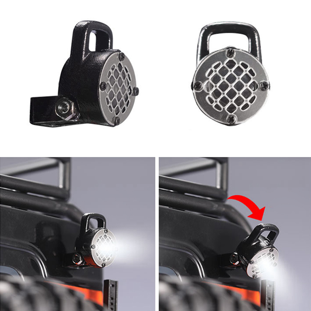 1pcs LED Light Lamp Spotlight Taillight For 1/10 Traxxas TRX4 Defender Ford Bronco Axial 90046 RC Crawler Car Parts