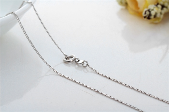 Wholesale Unisex 18k White Gold Filled Slim Thin Solid Nail Chain Choker Necklace 15 Collar Fashion Women Men Jewelry Hot Gifts Gifts For Her Jewelry Gift Bag With Logojewelry Making Tool Set Aliexpress