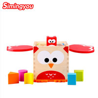 Simingyou Wooden Toys Owl Intelligence Box Shape Cognitive And Matching Eductional Toys C20 A 209 Drop Shipping
