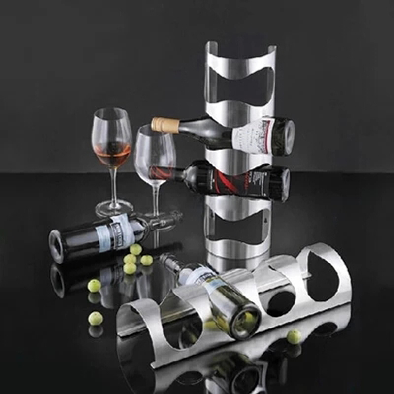 304 Stainless Steel Wine Rack Bar Wall Mounted Kitchen Holder for ...