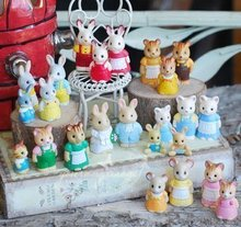 super mini 20pcs/set Simulation model toy scene Decoration forest family litttle cute animals pvc figure