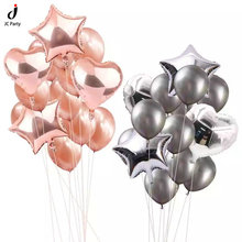 Rose Gold Heart Star Balloon Confetti  Balloons for Baby Shower Birthday Party Decorations Wedding Party Decor Latex Ballon бра maytoni rc301 wl 01 r