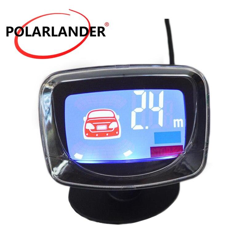 Auto Parkplatz Radar zubehör Umge Assistance Backup Hintergrundbeleuchtung-anzeigen-rückseiten-unterstützungsradar-monitor-system Parkplatz Sensor 12 V Meistverkauften LCD Display