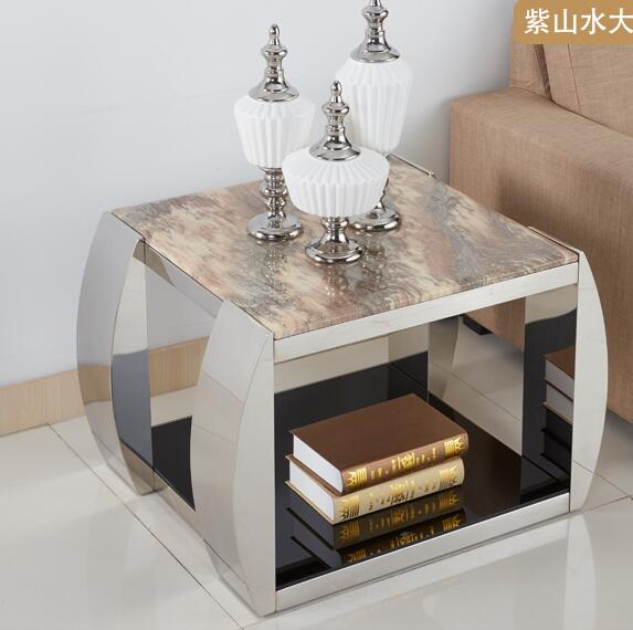 Marble Mirror Tea Table, Glass Coffee Table
